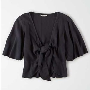 NWT American Eagle tie front top